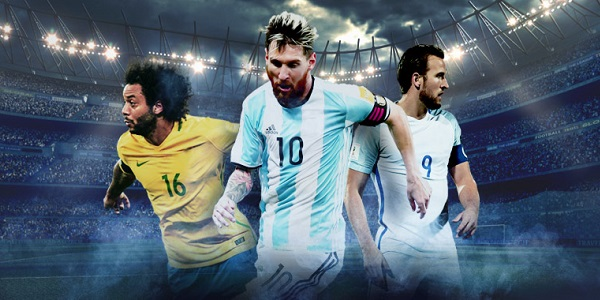 Marcelo Messi Kane World Cup 2018 10Bet Sportsbook