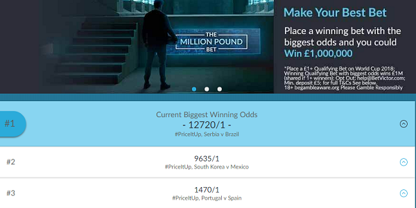 BetVictor Million Pound Giveaway