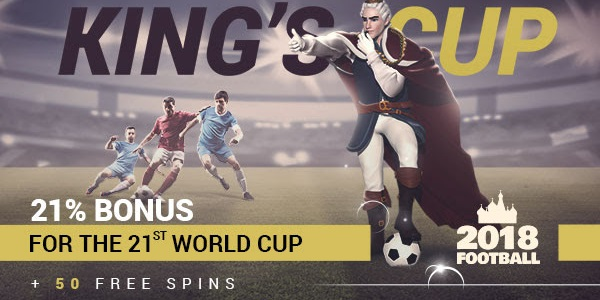 King Billy Casino World Cup Free Spins