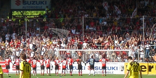 Freiburg Fans Celebration