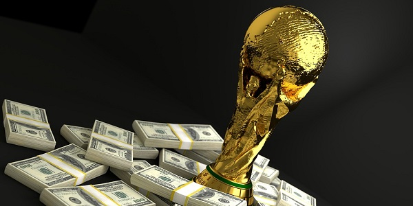 World Cup Trophy and Money