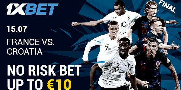 1xBET Sportsbook Risk Free World Cup Final Betting Offer