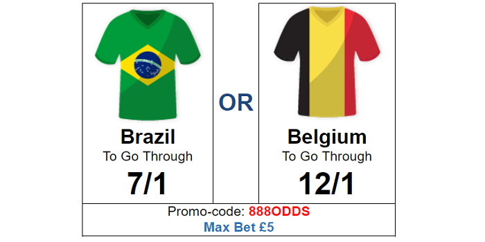 Brazil v Belgium Enhanced Odds