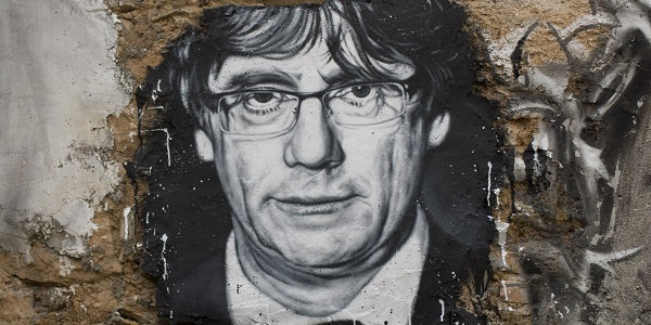 Carlos Puigdemont Painted Portrait Wallart