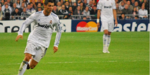 Cristiano Ronaldo Running Real Madrid