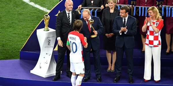 Putin Infantino Modric World Cup Golden Ball