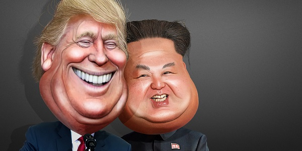 Donald Trump Kim Jong Un Cartoon