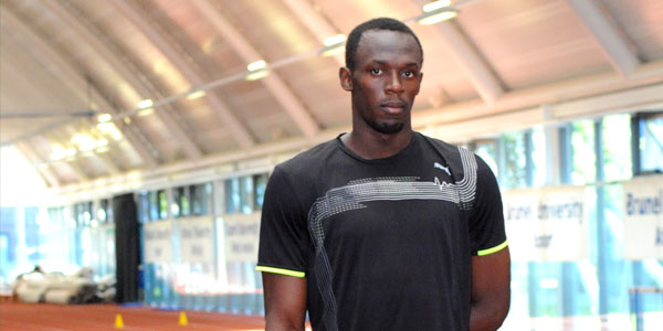Usain Bolt football trial