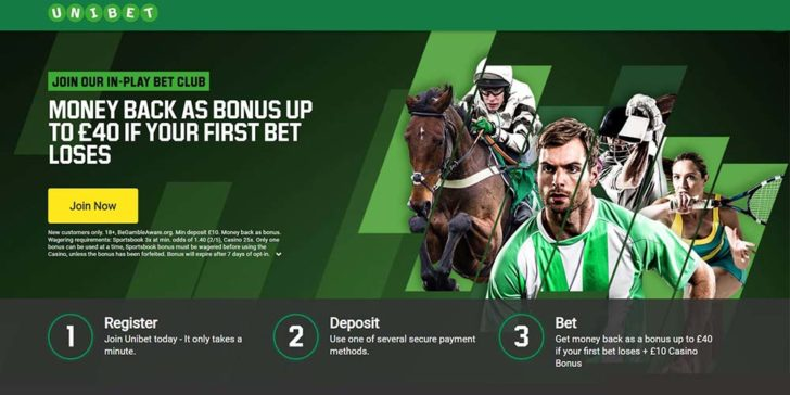 Money Back as a Bonus up to £40 if your first bet loses'. Please can you update that and add in the key T&Cs:  'New customers only. 18+, BeGambleAware.org. Min deposit £10. Money back as bonus. Wagering requirements: Sportsbook 3x at min. odds of 1.40 (2/5), Casino 25x. Only one bonus can be used at a time, Sportsbook bonus must be wagered before using the Casino, unless the bonus has been forfeited. Bonus will expire after 7 days of opt-in
