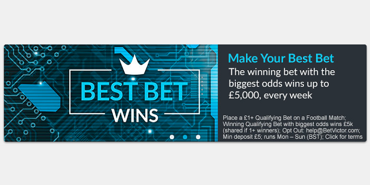 Crazy Acca Bets Earn You GBP 5k Extra at BetVictor!