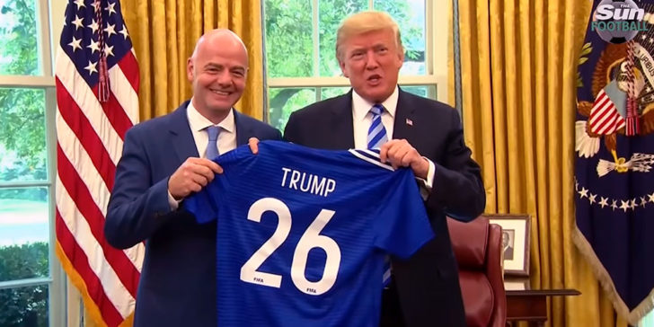 Gianni Infantino and Donald Trump