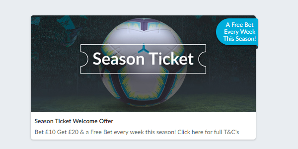 BetVictor Weekly Free Bet New Player Bonus