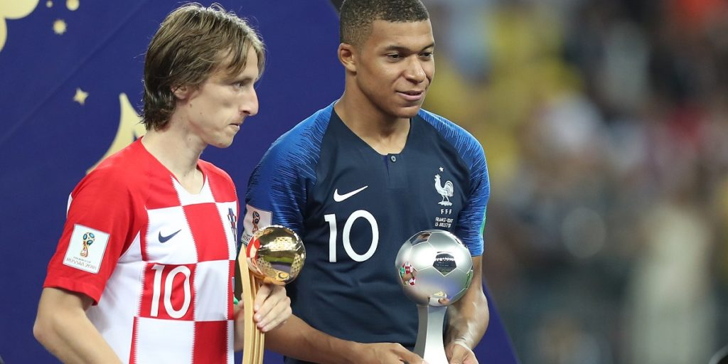 Modric Mbappé World Cup Individual Awards