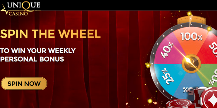 Unique Casino Weekly Personal Promotion