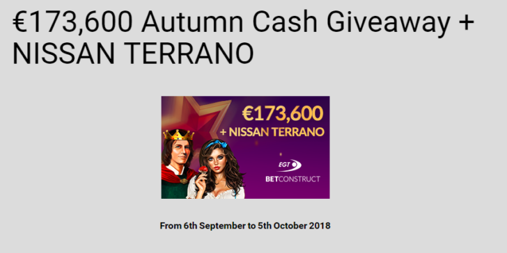 Nissan Terrano Giveaway Vbet Casino