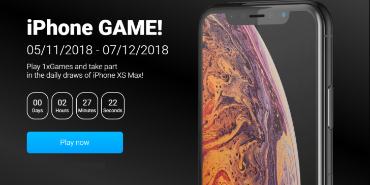 Enjoy 1xBET Casino's Daily iPhone Xs Max Giveaway!