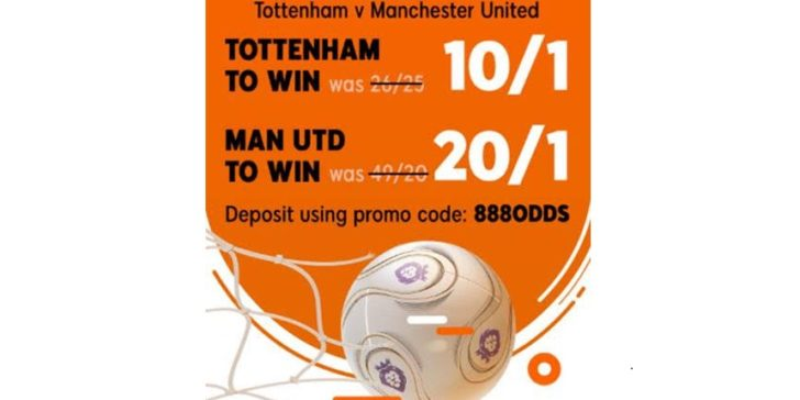 Premier League betting codes Spurs vs MU
