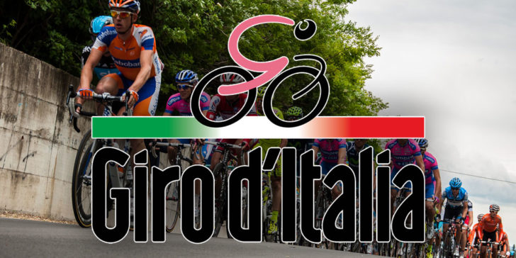 Giro d'Italia logo and cyclists in 2012