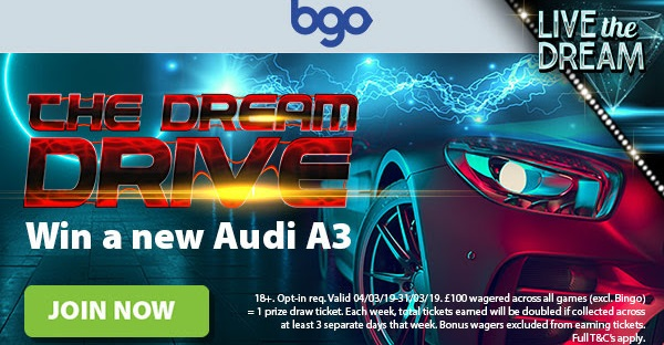 Win a Brand New Audi A3 bgo Casino