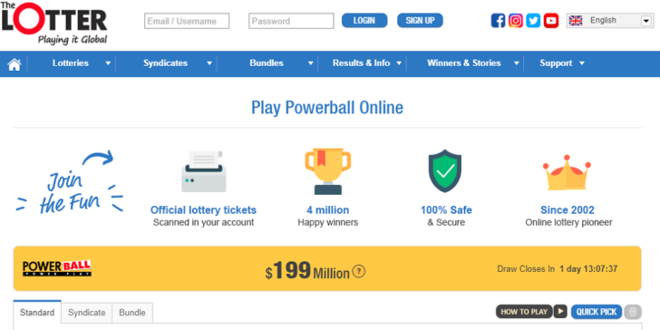 Buy PowerBall Ticket Online 2019 The Lotter