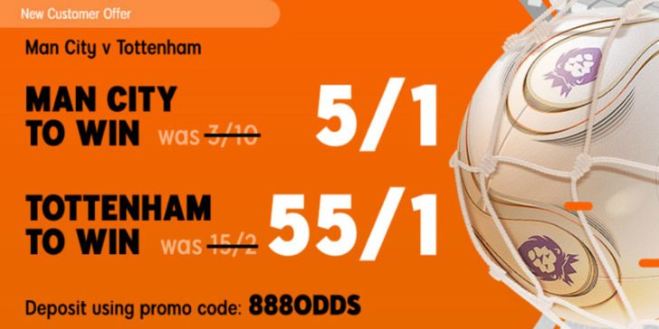 Man City v Tottenham Enhanced Odds