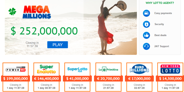 Lotto Agent Main Page