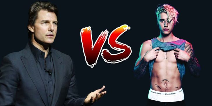 Tom Cruise vs Justin Bieber betting odds
