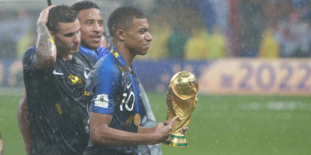 2019 Ballon d'Or Betting Predictions Kylian Mbappé World Cup Trophy