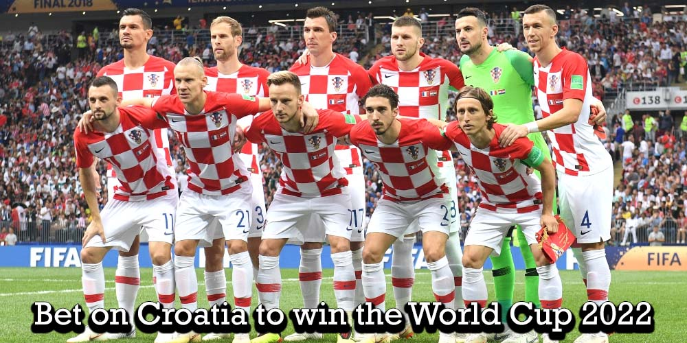 FIFA World Cup 2018 finalist Croatian national team ahead of the final against France