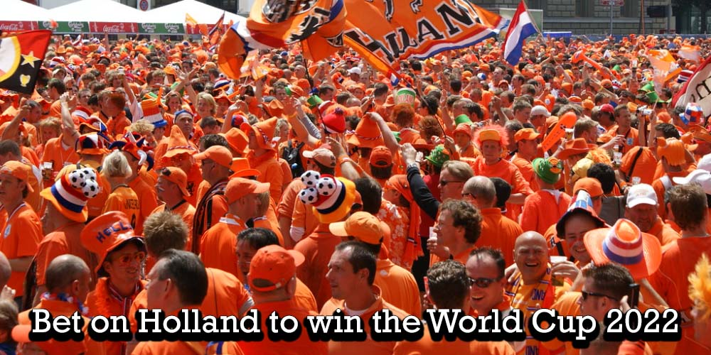 Dutch football fans celebrating their nation's football success at Euro 2012