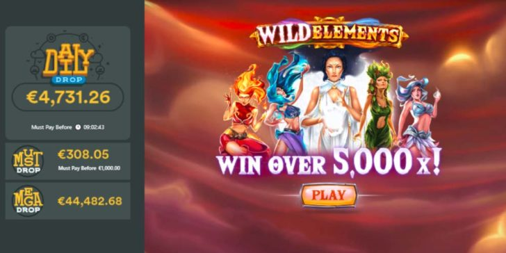 Win Huge Prizes on Wild Elements Jackpot Slot at Casumo Casino
