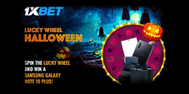1xBET Casino Halloween Offer Win a Samsung Note 10