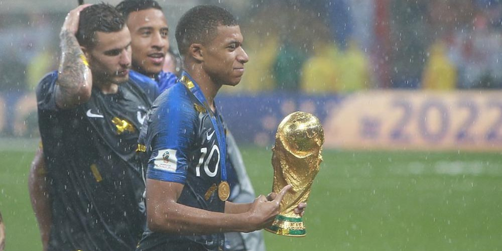 Iceland vs France Betting Tips Kylian Mbappé World Cup Trophy 2018