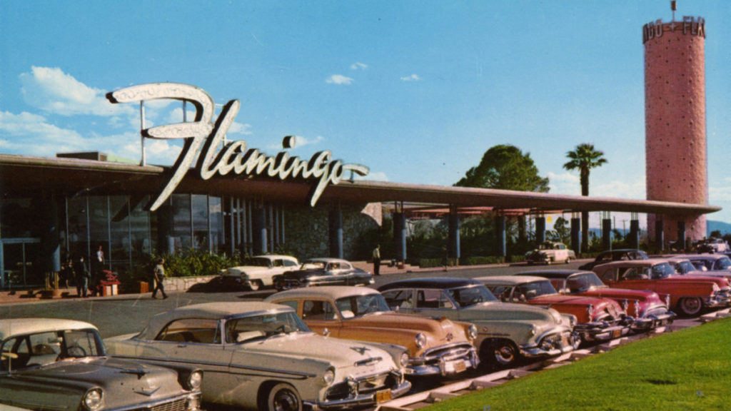 Flamingo hotel and casino, Bugs and Meyer mob, Bugsy Siegel, Cosa Nostra family, gambling, mafia gambling, Meyer Lanskey, Murder Inc, The National Crime Syndicate