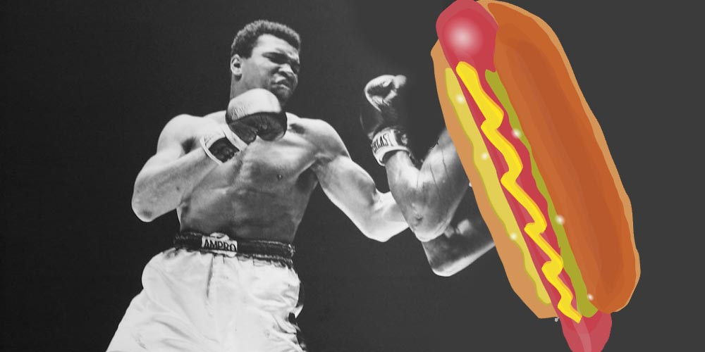 Nathan's hotdog eating contest odds, bet on hotdog eating, hotdog eating champions, Muhammad Ali vs hotdog, Muhammad Ali of hotdogs, best hotdog eater ever, Nathan's hotdog eating contest, bet on Nathan's hotdog eating contest, weird sports bets, weirdest betting markets, weird bets, online sportsbooks, online betting sites, online gambling sites, gamingzion, bet on hotdogs, bet on eating