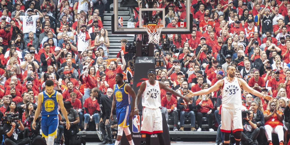 Golden State Warriors playing against the Toronto Raptors in the 2019 NBA Final, 2020 NBA Winner Odds, NBA MVP odds, NBA score predictions, best basketball, best basketball betting odds, NBA Yahoo Sports, Lakers Playoff chances, NBA online, NBA online betting, online sportsbooks, bet on NBA, bet on basketball, NBA betting, basketball betting, online gambling sites, GamingZion, NBA odds 2020, NBA odds to win Championship 2020, Fox NBA odds, 2020 NBA odds, Pinnacle NBA odds
