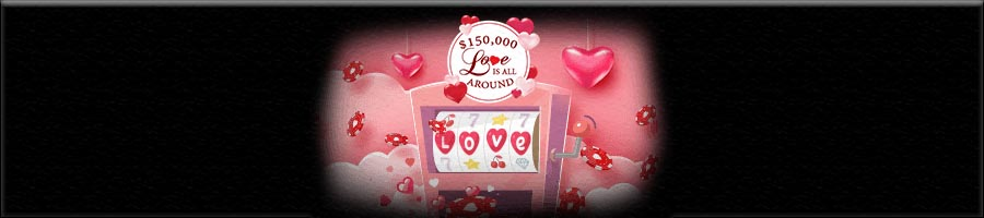 Intertops Casinos casino promotion at Valentine's Day offers $150,000 cash giveaway