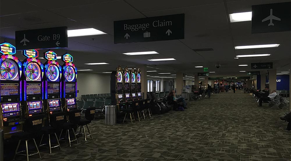 best airports for gambling
