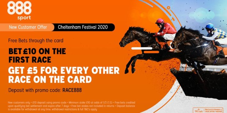 2020 Cheltenham betting promotions at 888 Sport for the most prestigious horse racing tournament