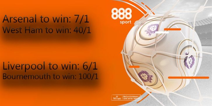Premier League enhanced odds offers at 888 Sport