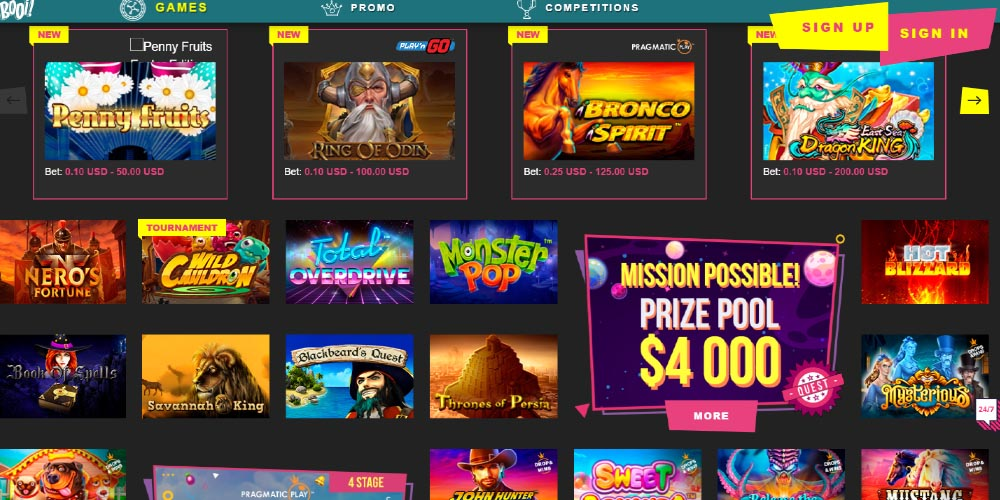 The latest review about Booi Casino Games