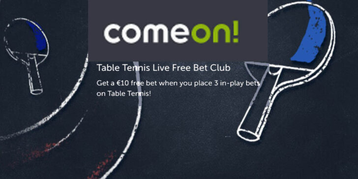 Weekly Table Tennis Free Bets