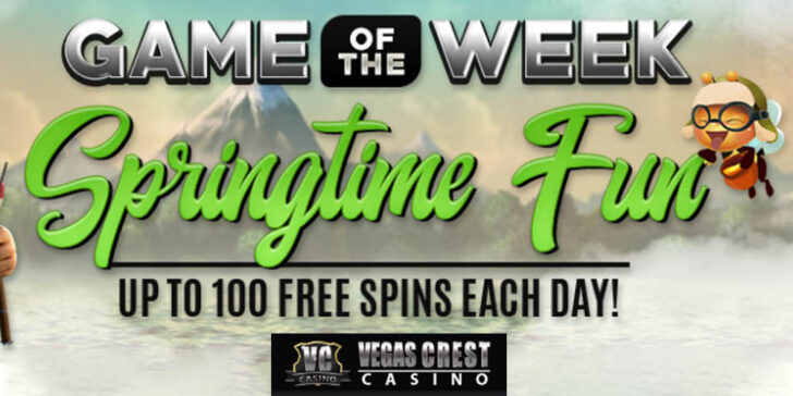 Spring Free Spins Promo: Play and Get up to 100 Free Spins