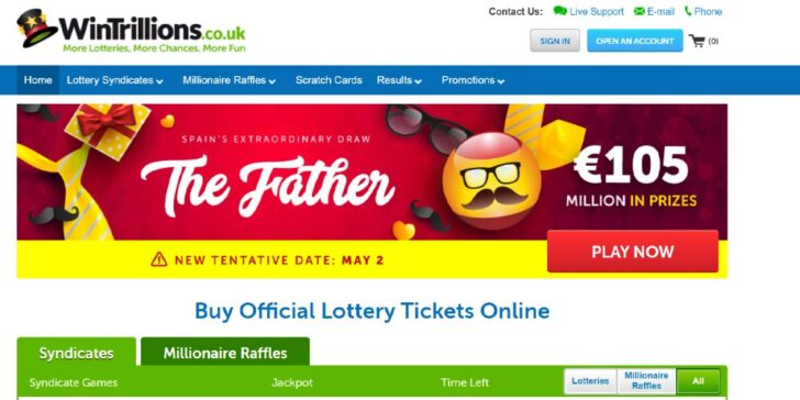 Review about Wintrillions Lottery, online lotto sites in the UK