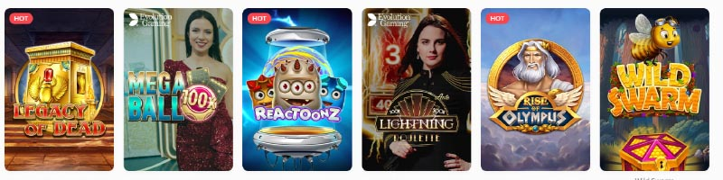 A few of the most popular online casino slots at Megalotto, Megalotto slot software