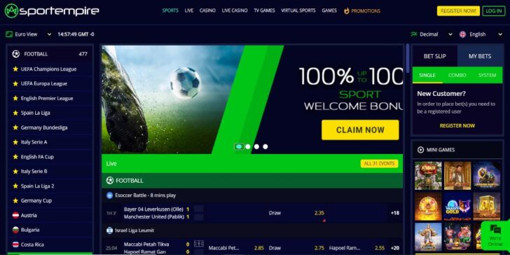 the latest review about SportEmpire Sportsbook