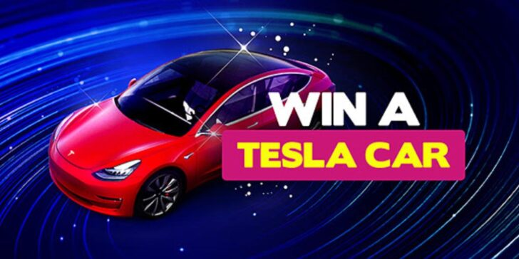 Win a Tesla Model 3 car, Tesla car giveaway 2020,best gambling promotions today