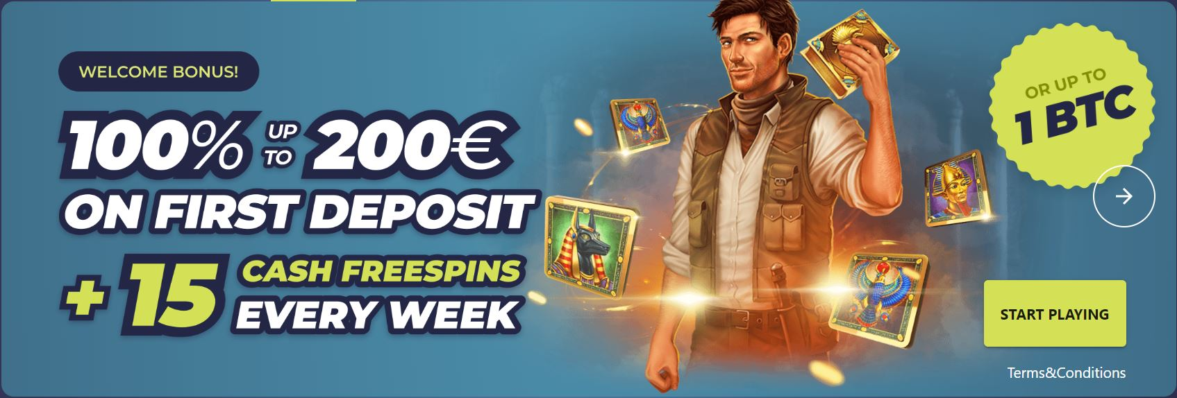 Casinoin Casino Welcome Bonus