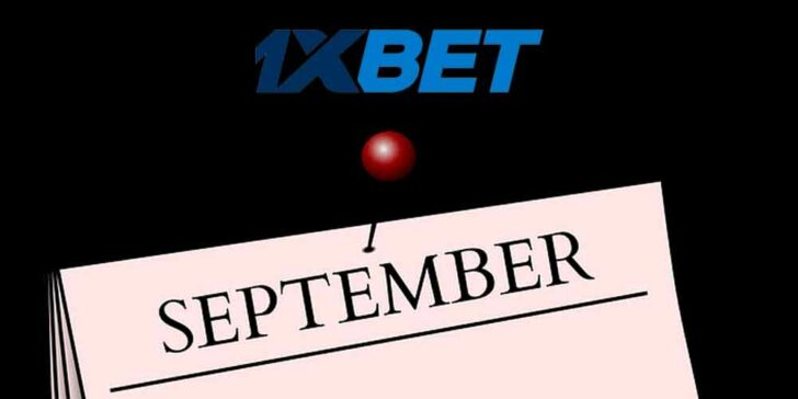 1xBET September Cash Prizes at 1xBET Casino – Get a Share of €2,000