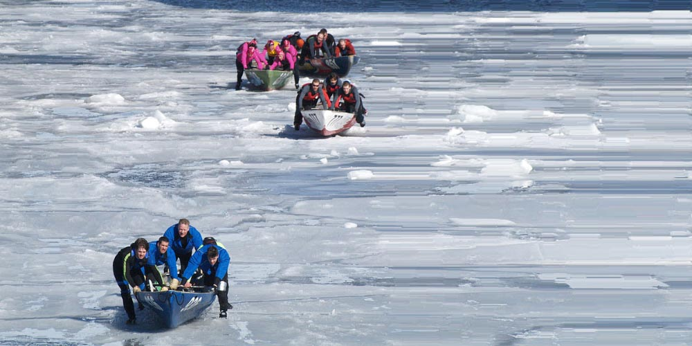 Ice canoeing is one of the weirdest winter sports played in cold